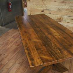 Reclaimed Wood Dining Room Tables - Reclaimed white pine top