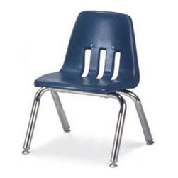 Virco - 9012 Classic Series Kids Chair (Navy) - Color: Navy. Plastic seat with steel back support. Stackable. Four legs. GREENGUARD Certified. Seat Height: 12 in.. Overall: 14.63 in. W x 15 in. D x 20.38 in. H (7.1 lbs.)