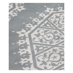 Alliyah Rugs - Michael Anthony Furniture Hand Made Grey New Zealand Blended Wool Rug, Gray, 5 X - Michael Anthony Furniture Hand Made Grey New Zealand Blended Wool Rug that is hand carved, hand washed And Hand Clipped before shipping