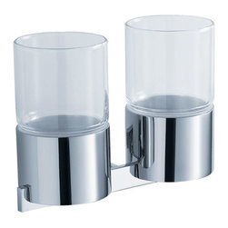 Kraus - Kraus KEA-14415CH  Bathroom Accessories - Wall-mounted Double Glass Tumbler - Kraus  is the premier manufacturer and designer of the bath fixtures and accessories, offering top of the line products that showcase a deft blending of breakthrough technology and aesthetic ardor