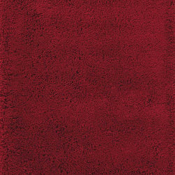 Momeni - Momeni Comfort Shag CS-10 (Red) 5' x 7' Rug - Reminiscent of the shag rugs of the 1970's, Comfort Shag is a modern take on a classic. Hand-tufted of 100% mod-acrylic, these rugs feature a soft hand and a thick, rich pile.