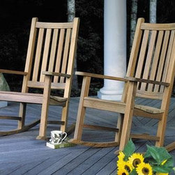 Charleston Rocking Chair - This perfect chair for wiling away many pleasant afternoons on the porch. This stylish high-backed rocker is weather resistant so it can be left outdoors season after season. Comfortable with or without a cushion.