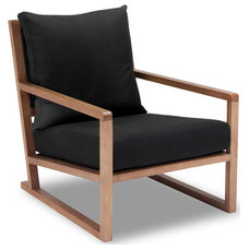 Modern Armchairs And Accent Chairs Woolwich Black Armchair