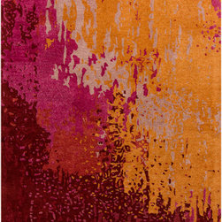 Surya - Surya Serenade SRD-2000 (Plum, Beige) 2' x 3' Rug - This Hand Tufted rug would make a great addition to any room in the house. The plush feel and durability of this rug will make it a must for your home. Free Shipping - Quick Delivery - Satisfaction Guaranteed