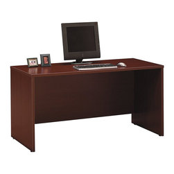 """BBF - BBF Series C 60W Credenza Shell - BBF - Computer Desks - WC36761 - Adaptable to your needs the BBF Series C 60""""W Credenza Shell can be used as a standalone work space or with other Series C pieces to create a larger workspace or add storage. Configure with the 60""""W Hutch or use as a left/right desk return the possibilities are endless with the 60""""W Credenza Shell. Spacious enough to add Mobile Pedestals the Credenza Shell also accepts Keyboard Trays for convenience. Fully equipped for electronics featuring management grommets to hide unsightly wires. Solid construction meets ANSI/BIFMA test standards in place at time of manufacture; this product is American Made and is backed by BBF 10-Year Warranty."""