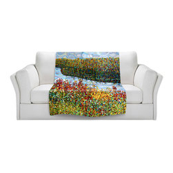 DiaNoche Designs - Fleece Throw Blanket by Mandy Budan - The River - Original Artwork printed to an ultra soft fleece Blanket for a unique look and feel of your living room couch or bedroom space.  DiaNoche Designs uses images from artists all over the world to create Illuminated art, Canvas Art, Sheets, Pillows, Duvets, Blankets and many other items that you can print to.  Every purchase supports an artist!