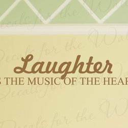 Decals for the Wall - Wall Decal Quote Vinyl Sticker Art Mural Letter Laughter Music of the Heart I86 - This decal says ''Laughter is the music of the heart''