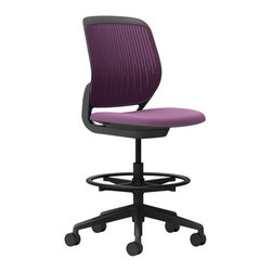 Steelcase - Steelcase Cobi Stool, Black Frame & Standard Casters, Concord - You adjust the height. Your chair will take care of the rest. Experience the ultimate in effortless comfort with this stylish black-framed office chair from Steelcase, available in a wide variety of colors to coordinate with any workspace decor.