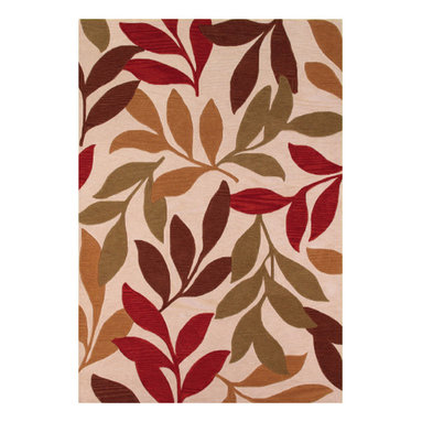 Couristan - Ambrosia Poplar Rug 4782/0877 - 5' x 8' - These modern, elegant area rugs offer a bold color palette that can serve as either the foundation of the room, or act as the unifying piece that ties everything together. Take advantage of the collection's large-scale floral designs which have been designed to enlarge the appearance of any setting needing the extra sense of dimension and depth. These beautiful floral designs are a great way to add a pop to any room, from the foyer to the bedroom.