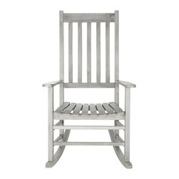 Safavieh - Shasta Rocking Chair - A country porch classic, the charming Shasta rocking chair is a perennial favorite in homes across America. Meticulously crafted of sustainable acacia wood with a grey wash finish, this piece is designed for long wear, comfort and ease of care.