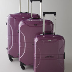 "Bric's - Bric's ""Pininfarina"" 27"" Trolley - A merging of avant-garde shapes and high-tech solutions, this contemporary luggage adds fashionable flair to traveling. Made of polycarbonate with metal details. Select color when ordering. Four spinner wheels. Push-button telescopic handles. Integ..."