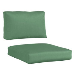 Newport Sunbrella® Bottle Green Lounge Chair Cushions - Bottle green cushions add a soft silhouette to our Newport lounge collection. Polyester-filled cushions are covered in fade-, water- and mildew-resistant Sunbrella® acrylic fabric.