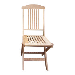 Oakland Living - Folding Event Wooden Chairs - Made of Durable Wooden Construction. Easy to follow assembly instructions and product care information. Stainless steel or brass assembly hardware. Fade, chip and crack resistant. 1 year limited. Event chair folds for easy storage. Lightweight and constructed of durable wood. 17 in. W x 20 in. L x 38 in. H (34 lbs.)This folding event chair will be a beautiful addition to your patio, balcony or outdoor entertainment area. Our folding event chairs are perfect for any small space, or to accent a larger space.