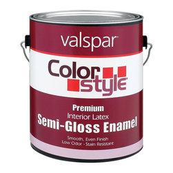 Valspar - Valspar 1 Gallon Color Style Interior Latex Semi Gloss Enamel Paint (4-Pack) - Valspar 44-26200 GL 1 Gallon White Color Style Interior Latex Semi Gloss Enamel Paint, White