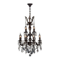 "Worldwide Lighting - Versailles 12 Light Flemish Brass Finish Crystal Chandelier 21"" x 32"" Two 2 Tier - This stunning 12-light Chandelier only uses the best quality material and workmanship ensuring a beautiful heirloom quality piece. Featuring a cast aluminum base in Flemish Brass finish and all over clear crystal embellishments made of finely cut premium grade 30% full lead crystal, this chandelier will give any room sparkle and glamour. Worldwide Lighting Corporation is a privately owned manufacturer of high quality crystal chandeliers, pendants, surface mounts, sconces and custom decorative lighting products for the residential, hospitality and commercial building markets. Our high quality crystals meet all standards of perfection, possessing lead oxide of 30% that is above industry standards and can be seen in prestigious homes, hotels, restaurants, casinos, and churches across the country. Our mission is to enhance your lighting needs with exceptional quality fixtures at a reasonable price."