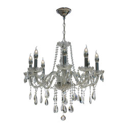 lightupmyhome - Melissa Crystal Chandelier - Illuminate your home with this radiant candelabra 8-light chandelier. Draped with eye-catching glistening crystals, this stunning chandelier will impress your friends and family with its brilliance.