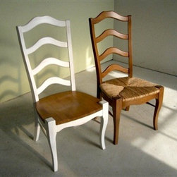 French Ladder-back Dining Chair in 2 Colors - Made by http://www.ecustomfinishes.com