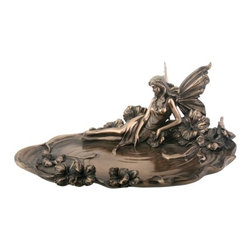 Summit - 9.75 Inch Collectible Bronze Colored Resin Fairy Jewelry Dish Statue - This gorgeous 9.75 Inch Collectible Bronze Colored Resin Fairy Jewelry Dish Statue has the finest details and highest quality you will find anywhere! 9.75 Inch Collectible Bronze Colored Resin Fairy Jewelry Dish Statue is truly remarkable.