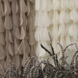 Couture Dreams Chichi Window Panels - Couture Dreams Chichi Solid Petal Window Panels are sophisticated and romantic yet playful and casual. Truly stunning these panels are sure to turn any room into a statement piece.