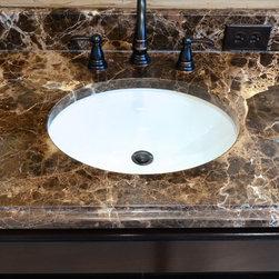 Bathrooms Dark Emperador Marble Countertops Bathroom