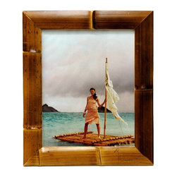 "Bamboo54 - Bamboo Waikiki Frame - 5"" x 7"" - Beautiful bamboo frame made from authentic bamboo and features the culms of the bamboo."
