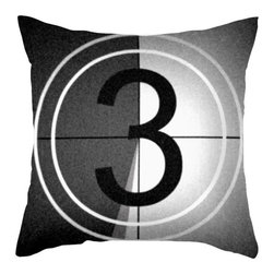 Movie Countdown Pillow Cover - Pop in a DVD thriller and snuggle up with this Movie Counter Pillow. It's going to be a good night.