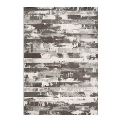 Surya - Surya Contempo Stripe Grey Rug - With stunning granite and charcoal hues, the Surya Contempo rug makes a gorgeous statement in a modern home. Wide stripes of blended color create an earthy look reminiscent of beautifully hand-designed stonework.  Available in several sizes. 100% polypropylene. Rug pad recommended. Spot clean with soap and water.