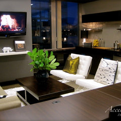 modern living room by AccenTrix Design