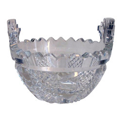 Waterford - Signed Waterford crystal Hibernia butter bowl - This one of the older hand cut in Ireland pieces.