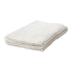 BIRGIT STRÅ Bedspread/blanket - Bedspread/blanket, white