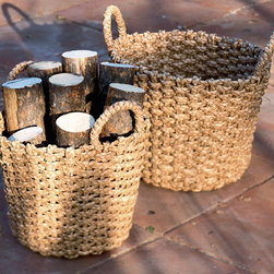 Malu Seagrass Round Basket - Baskets like this are great for corralling beach towels, flip flops or even firewood for your fire pit. I love the functional beauty these have in particular.