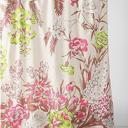 Neon Flower Shower Curtain - Shades of neon make this classic floral shower curtain pop.