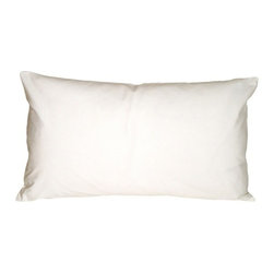 "Pillow Decor - Pillow Decor - Caravan Cotton White 9 x 18 Throw Pillow - Bold and beautiful, the Caravan Cotton 9 x 18 Throw Pillows are the ideal pillows for adding a simple splash of color to your decor. With 3% spandex added to improve durability and wash ability, this soft cotton pillow will provide long lasting comfort. This is a petite lumbar pillow. Measurements are based on the pillow cover when measured flat before stuffing. For a slightly more generous size, consider our 12"" x 19"" size."