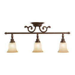 Tannery Bronze with Citrine Glass Kichler Ceiling Fixture -