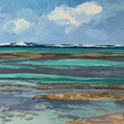 Isla Encantada, San Blas Oil Seascape by Anna Poole