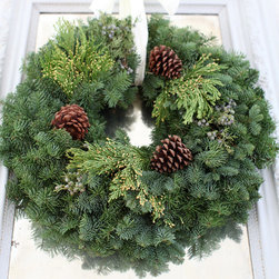 Fresh Traditional Wreath - These wreaths from Wintersteen Farms are absolutely gorgeous. I would love to have three of them to hang on each of my living room windows to add some Christmas cheer.