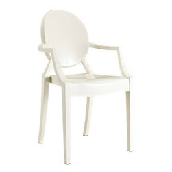 LexMod - Casper Ghost Dining Armchair in White - This is one of the most popular chairs in decor. I adore it in white.