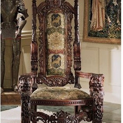 Lord Raffles Lion Throne Chair - A hand-carved mahogany reproduction of Lord Thomas Stamford Raffles' throne - in case you misplaced yours.