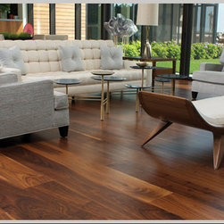 Wide plank long length Walnut flooring -