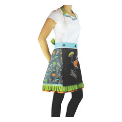 MU Kitchen MUcity Apron & Towel Set Mushroom - Show off your style with the new MU Kitchen MUcity Mushroom print apron & kitchen towel set.  This 100% imported Indian cotton apron set features a built in towel for quick use.  The MU Kitchen MUcity collection brings comfort  style  and functionality together in one beautiful package.Product Features                      100% cotton imported from India          Trend-right designer style          V-line slim fit             Built-in towel for quick use