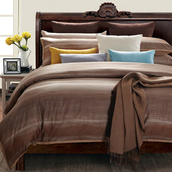 None - EverRouge Sahara Sun King-size 7-piece Cotton Duvet Cover Set - The brown base tone easily matches dark or light wooden furniture but can also offer a brilliant contrasting look to modern bed frames. Just like the inviting color combination, the soft fabric will make falling asleep in this duvet cover set a breeze.