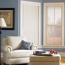 "Bali - Bali Northern Heights Collection: 1-inch Wood Blinds - 1"" slats are a great choice for small windows, sidelights and French doors - part of Bali's premier line of hardwood blinds."