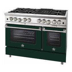 "BlueStar Platinum Series: 48"" Range - 48"" BlueStar Platinum Range in Moss Green (RAL 6005)"
