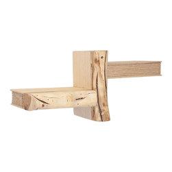 "Silver Nest - Faux ""Book"" Stacked Shelf- Set of 3- 8""h - Light Wood Asymmetrical Shelf- Set of 3"