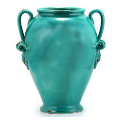 Artistica - Hand Made in Italy - SCAVO CLASSICO: Umbrella Stand Vase BLUE MARE - SCAVO CLASSICO: Combining simplicity and elegance for your home and Garden...