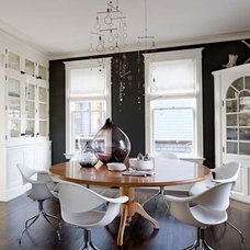 Ooh, maybe dark walls and white built-ins like this could ... | Inside
