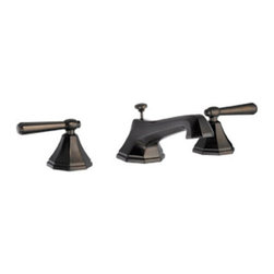 DHI-Corp - Barcelona Wide Spread Lavatory Faucet, Brushed Bronze - The Design House 522748 Barcelona Wide Spread Lavatory Faucet features a dual handle design, 8-inch mount and a brass popup for sealing your drain. This faucet's body is made of brass and the handles are made of zinc alloy. Finished in brushed bronze, this octagonal faucet is refined and elegant with a ceramic disc cartridge and brass waterways. The brass waterways contain zinc and copper which are known to prevent antimicrobial growth ensuring safe and clean water for your family. Compared to the 1-5 year lifespan of traditional faucets, ceramic disc faucets can last up to 30 years and provide ultimate protection against corrosion to the water valve. With the Water Sense label, this faucet is a water-efficient product and certified to meet EPA Water Sense criteria for efficiency and performance. The 1.3-gallon per minute flow rate ensures a steady water flow after years of everyday use and extends 5.4-inches which leaves plenty of room for washing your hands. This faucet has a quarter turn stop lever handle operation and is UPC, ADA, Ab-1953, lead-free and cUPC compliant. The Design House 522748 Barcelona Wide Spread Lavatory Faucet comes with a lifetime limited warranty that protects against defects in materials and workmanship. Design House offers products in multiple home decor categories including lighting, ceiling fans, hardware and plumbing products. With years of hands-on experience, Design House understands every aspect of the home decor industry, and devotes itself to providing quality products across the home decor spectrum. Providing value to their customers, Design House uses industry leading merchandising solutions and innovative programs. Design House is committed to providing high quality products for your home improvement projects.