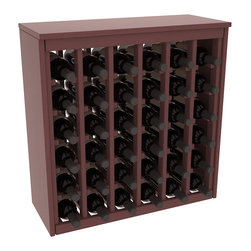 Wine Racks America - 36 Bottle Deluxe in Ponderosa Pine, Walnut Stain + Satin Finish - Great start or addition to wine rack furniture, this wooden wine rack is designed to look like a freestanding wine cabinet. Solid top and side enclosures promote the cool and dark storage area necessary for aging your wine properly. Your satisfaction and our racks are guaranteed.
