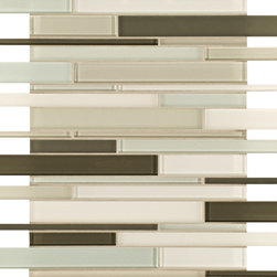 Artistic Tile Opera Glass Collection - Serenade Stilato Linear Mosaic - Versatile, contemporary and timeless: Opera Glass offers ultimate design flexibility. Clear float glass, with color applied to the back, in large and small formats, full spectrum of colors, satin and gloss finishes, and wide selection of shapes allow for endless pairing possibilities. Its versatility is unrivaled. Modern and classic, mysterious and inviting, Opera Glass is fresh and elegant.