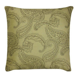 Victoria Classics - Victoria Classics Huntington Embroidered Decorative Pillow - HUN-PLW-2020-IN-D5 - Shop for Pillows from Hayneedle.com! With its paisley design and sophisticated color options the Victoria Classics Huntington Embroidered Decorative Pillow updates the look of your whole room. The embroidered paisley design and luxurious feather and down insert make it luxurious.
